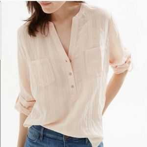 Lou & Grey shadow striped Cotton blouse NWT